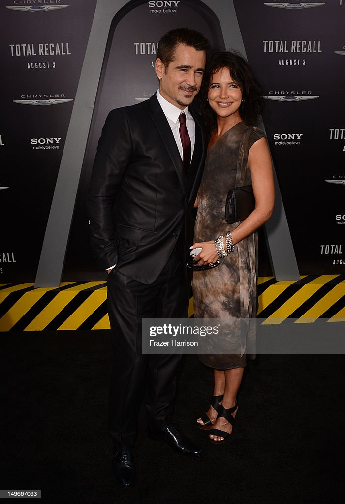 Actor <a gi-track='captionPersonalityLinkClicked' href=/galleries/search?phrase=Colin+Farrell&family=editorial&specificpeople=202154 ng-click='$event.stopPropagation()'>Colin Farrell</a> and sister Claudiine Farrell arrives at the premiere of Columbia Pictures' 'Total Recall' held at Grauman's Chinese Theatre on August 1, 2012 in Hollywood, California