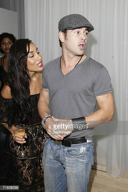 Actor Colin Farrell and Sofia Hayat arrive at the after party following the European premiere of ''Miami Vice'' at Sanderson Hotel on July 27 2006 in...