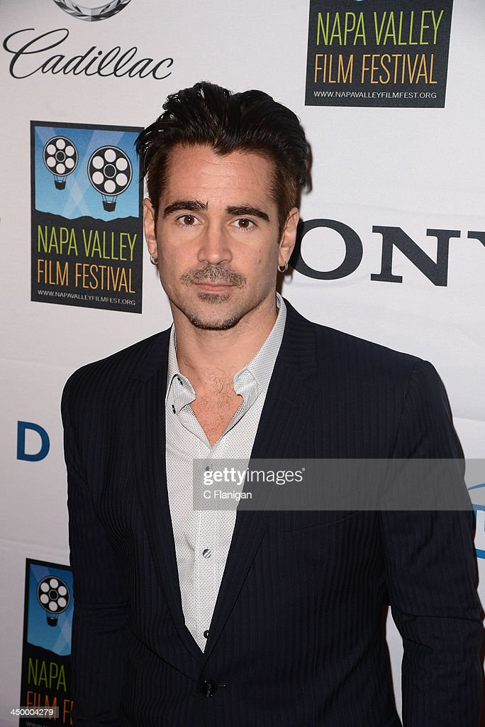 Actor <a gi-track='captionPersonalityLinkClicked' href=/galleries/search?phrase=Colin+Farrell&family=editorial&specificpeople=202154 ng-click='$event.stopPropagation()'>Colin Farrell</a> arrives at the Napa Valley Film Festival Celebrity Tribute on November 15, 2013 in Napa, California.