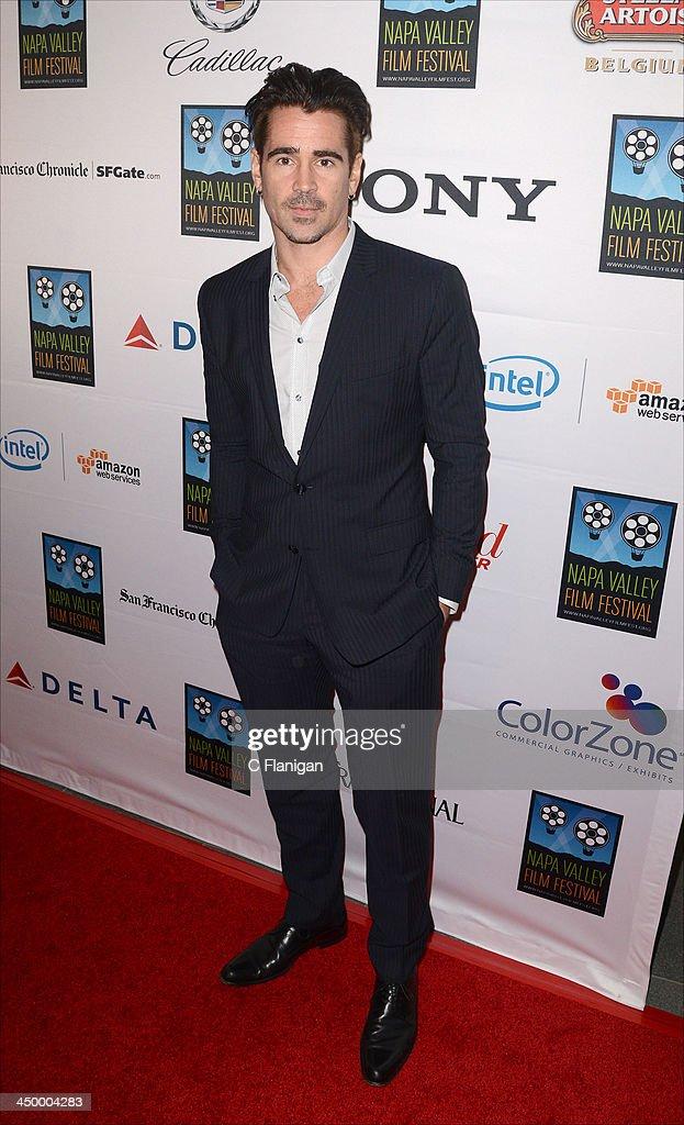 Actor Colin Farrell arrives at the Napa Valley Film Festival Celebrity Tribute on November 15 2013 in Napa California