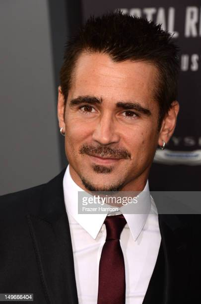 Actor Colin Farrell arrives at the premiere of Columbia Pictures' 'Total Recall' held at Grauman's Chinese Theatre on August 1 2012 in Hollywood...