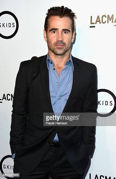 Actor Colin Farrell arrives at the Screening of GKIDS' 'Kahlil Gibran's The Prophet' at Bing Theatre At LACMA on July 29 2015 in Los Angeles...
