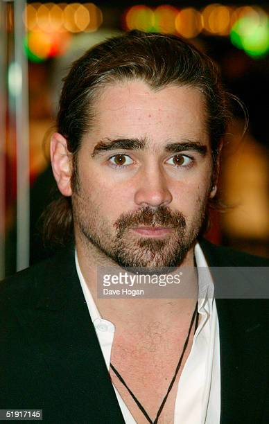 Actor Colin Farrell arrives at the UK Premiere of 'Alexander' at the Odeon Leicester Square on January 5 2005 in London