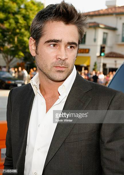 Actor Colin Farrell arrives at the Universal Pictures premiere of 'Miami Vice' held at the Mann's Village Theatre on July 20 2006 in Westwood...