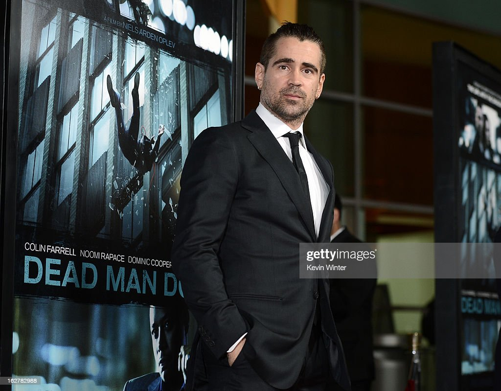 Actor <a gi-track='captionPersonalityLinkClicked' href=/galleries/search?phrase=Colin+Farrell&family=editorial&specificpeople=202154 ng-click='$event.stopPropagation()'>Colin Farrell</a> arrives to the premiere of FilmDistricts's 'Dead Man Down' at ArcLight Hollywood on February 26, 2013 in Hollywood, California.