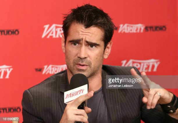 Actor Colin Farrell at Variety Studio presented by Moroccanoil on Day 1 at Holt Renfrew Toronto during the 2012 Toronto International Film Festival...