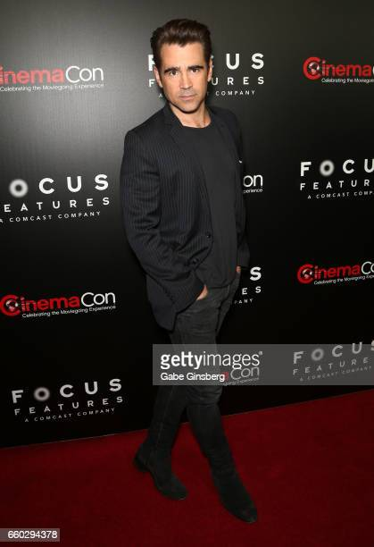 Actor Colin Farrell attends Focus Features luncheon and studio program celebrating 15 Years during CinemaCon at The Colosseum at Caesars Palaceon...
