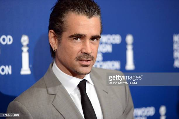 Actor Colin Farrell attends Hollywood Foreign Press Association's 2013 Installation Luncheon at The Beverly Hilton Hotel on August 13 2013 in Beverly...