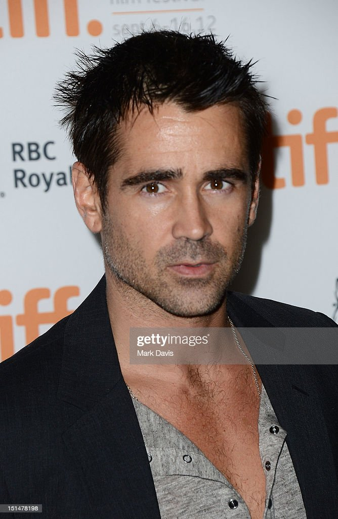 Actor <a gi-track='captionPersonalityLinkClicked' href=/galleries/search?phrase=Colin+Farrell&family=editorial&specificpeople=202154 ng-click='$event.stopPropagation()'>Colin Farrell</a> attends 'Seven Psychopaths' premiere during the 2012 Toronto International Film Festival at Ryerson Theatre on September 7, 2012 in Toronto, Canada.
