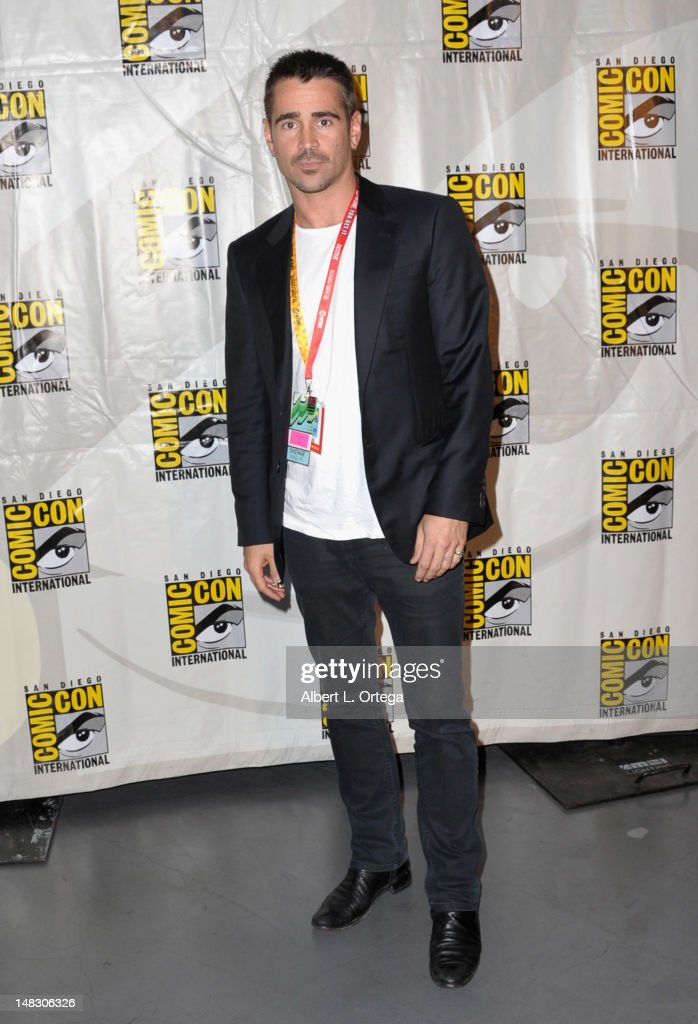 Actor <a gi-track='captionPersonalityLinkClicked' href=/galleries/search?phrase=Colin+Farrell&family=editorial&specificpeople=202154 ng-click='$event.stopPropagation()'>Colin Farrell</a> attends Sony's 'Total Recall' panel during Comic-Con International 2012 at San Diego Convention Center on July 13, 2012 in San Diego, California.