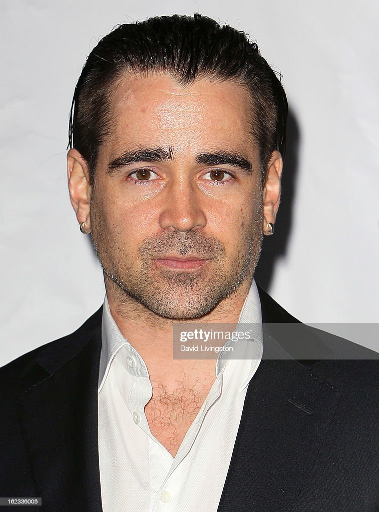 Actor Colin Farrell attends the 8th Annual 'Oscar Wilde: Honoring The Irish In Film' Pre-Academy Awards Event at Bad Robot on February 21, 2013 in Santa Monica, California.