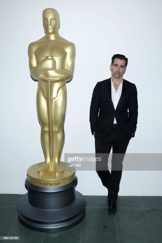 Actor Colin Farrell attends The Academy of Motion Picture Arts & Sciences official academy screening of 'The Killing of a Sacred Deer' at the MOMA Celeste Bartos Theater on October 21, 2017 in New York City.