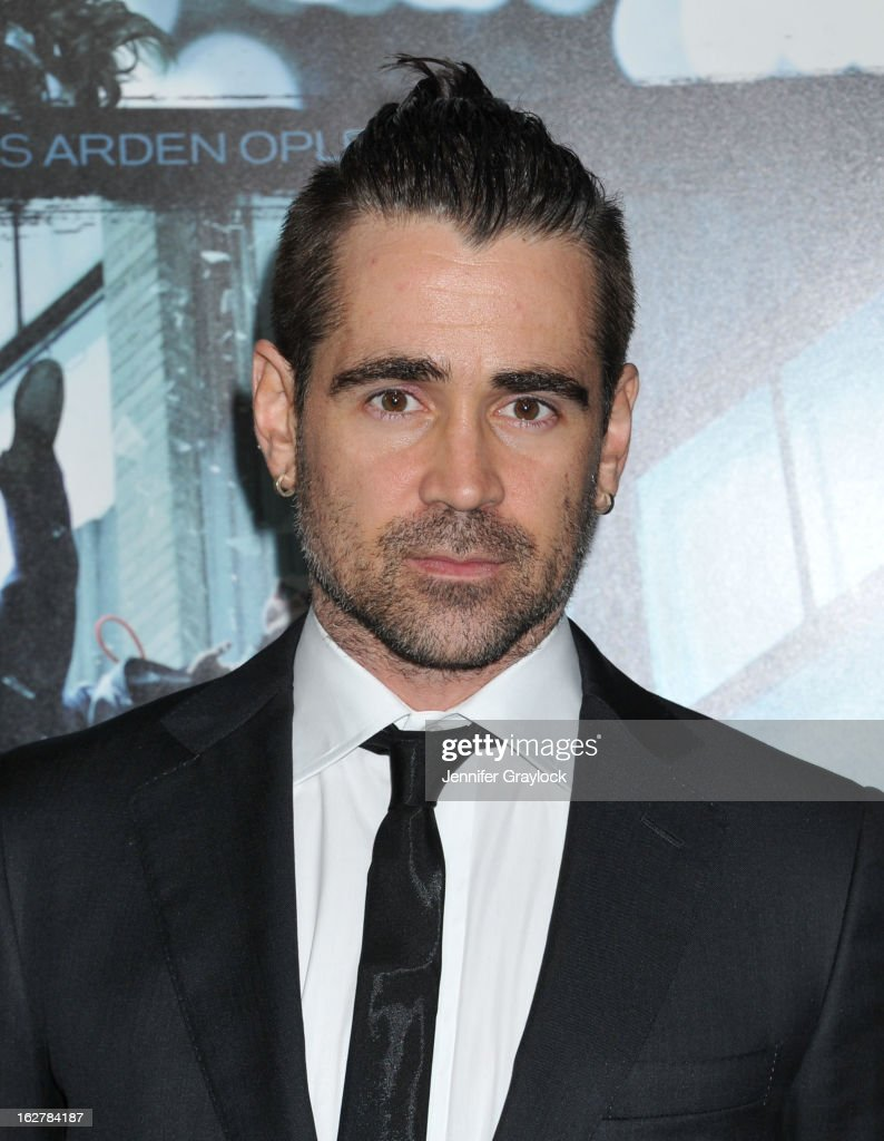 Actor <a gi-track='captionPersonalityLinkClicked' href=/galleries/search?phrase=Colin+Farrell&family=editorial&specificpeople=202154 ng-click='$event.stopPropagation()'>Colin Farrell</a> attends the 'Dead Man Down' Los Angeles Premiere held at the ArcLight Cinemas on February 26, 2013 in Hollywood, California.