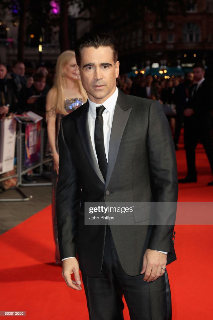 Actor Colin Farrell attends the Headline Gala Screening & UK Premiere of 'Killing of a Sacred Deer' during the 61st BFI London Film Festival on October 12, 2017 in London, England.