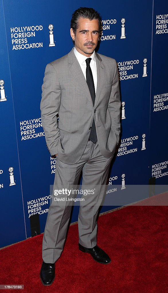 Actor Colin Farrell attends the Hollywood Foreign Press Association's 2013 Installation Luncheon at The Beverly Hilton Hotel on August 13, 2013 in Beverly Hills, California.