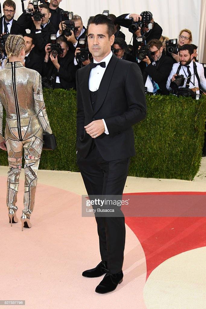 Actor Colin Farrell attends the 'Manus x Machina: Fashion In An Age Of Technology' Costume Institute Gala at Metropolitan Museum of Art on May 2, 2016 in New York City.