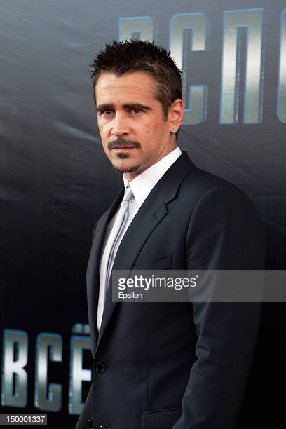 Actor Colin Farrell attends the Moscow premiere of Columbia Pictures 'Total Recall' on August 8 2012 in Moscow Russia