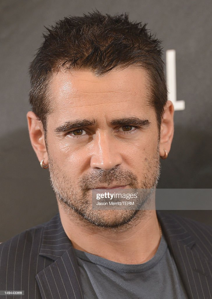 Actor <a gi-track='captionPersonalityLinkClicked' href=/galleries/search?phrase=Colin+Farrell&family=editorial&specificpeople=202154 ng-click='$event.stopPropagation()'>Colin Farrell</a> attends the photo call for Columbia Pictures' 'Total Recall' held at the Four Seasons Hotel on July 28, 2012 in Los Angeles, California.