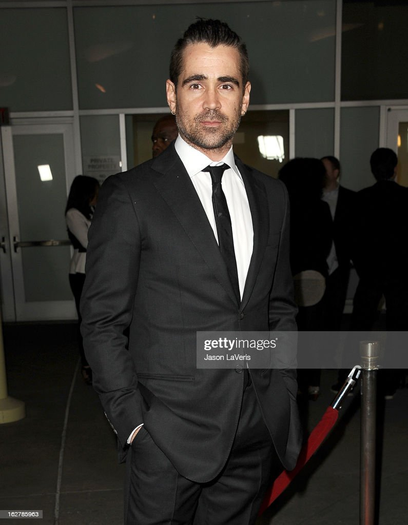 Actor <a gi-track='captionPersonalityLinkClicked' href=/galleries/search?phrase=Colin+Farrell&family=editorial&specificpeople=202154 ng-click='$event.stopPropagation()'>Colin Farrell</a> attends the premiere of 'Dead Man Down' at ArcLight Cinemas on February 26, 2013 in Hollywood, California.