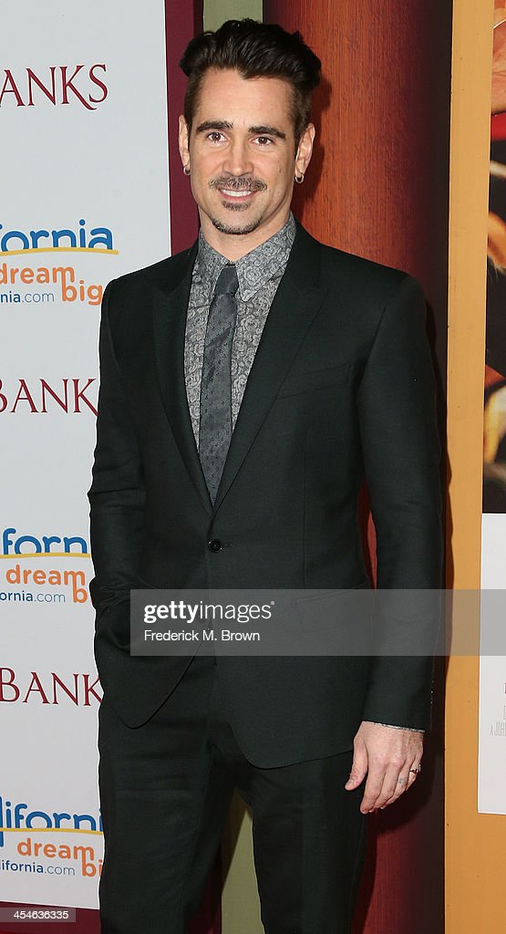 Actor Colin Farrell attends the Premiere of Disney's 'Saving Mr. Banks' at Walt Disney Studios on December 9, 2013 in Burbank, California.