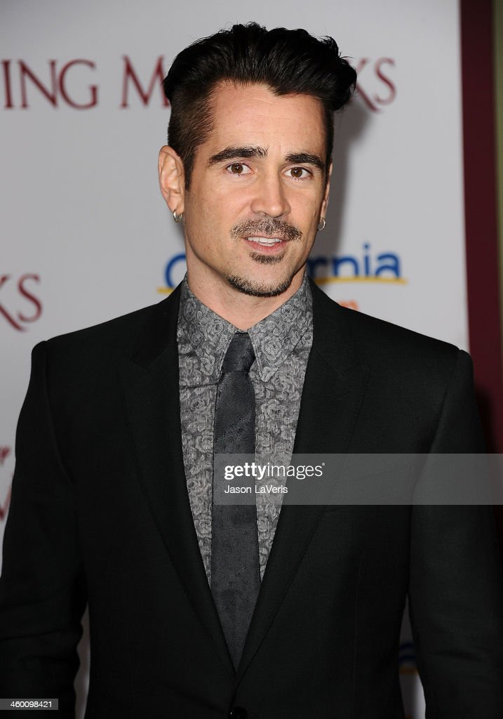 Actor <a gi-track='captionPersonalityLinkClicked' href=/galleries/search?phrase=Colin+Farrell&family=editorial&specificpeople=202154 ng-click='$event.stopPropagation()'>Colin Farrell</a> attends the premiere of 'Saving Mr. Banks' at Walt Disney Studios on December 9, 2013 in Burbank, California.