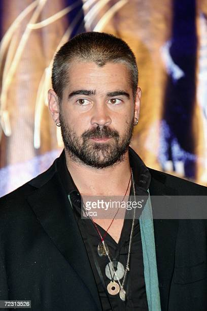 Actor Colin Farrell attends the premiere of the film Miami Vice on October 30 2006 in Beijing China