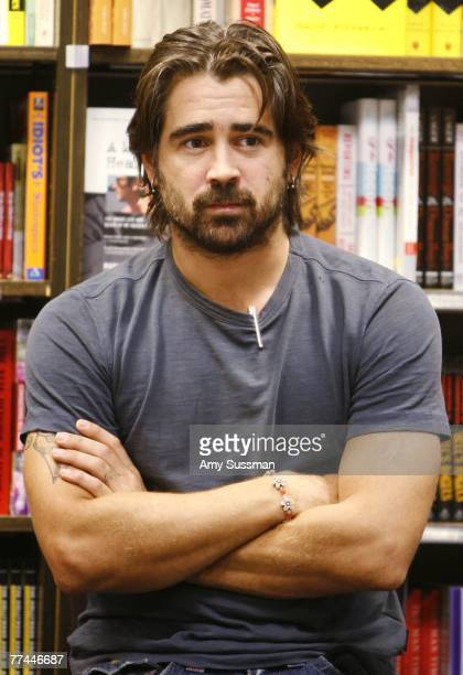 Actor Colin Farrell attends the signing of the book 'Click' at Borders Books Columbus Circle October 22 2007 in New York City