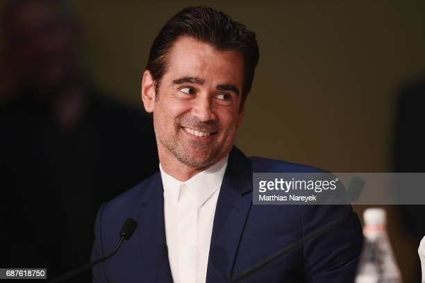 Actor Colin Farrell attends the 'The Beguiled' press conference during the 70th annual Cannes Film Festival at Palais des Festivals on May 24 2017 in...