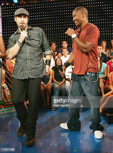 Actor Colin Farrell does his best Jamie Foxx impression when the two actors made an appearance on MTV's Total Request Live to promote their new film...