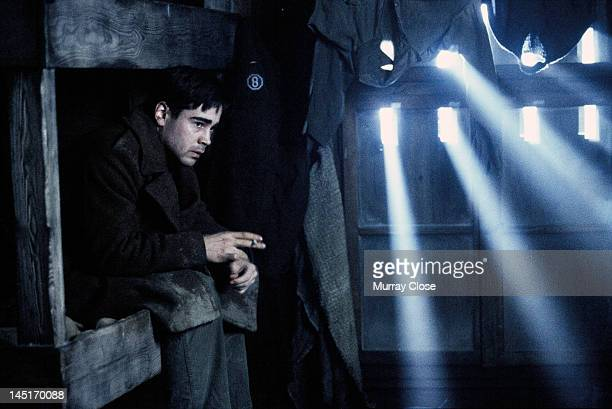 Actor Colin Farrell films a scene for the movie 'Hart's War' 2002