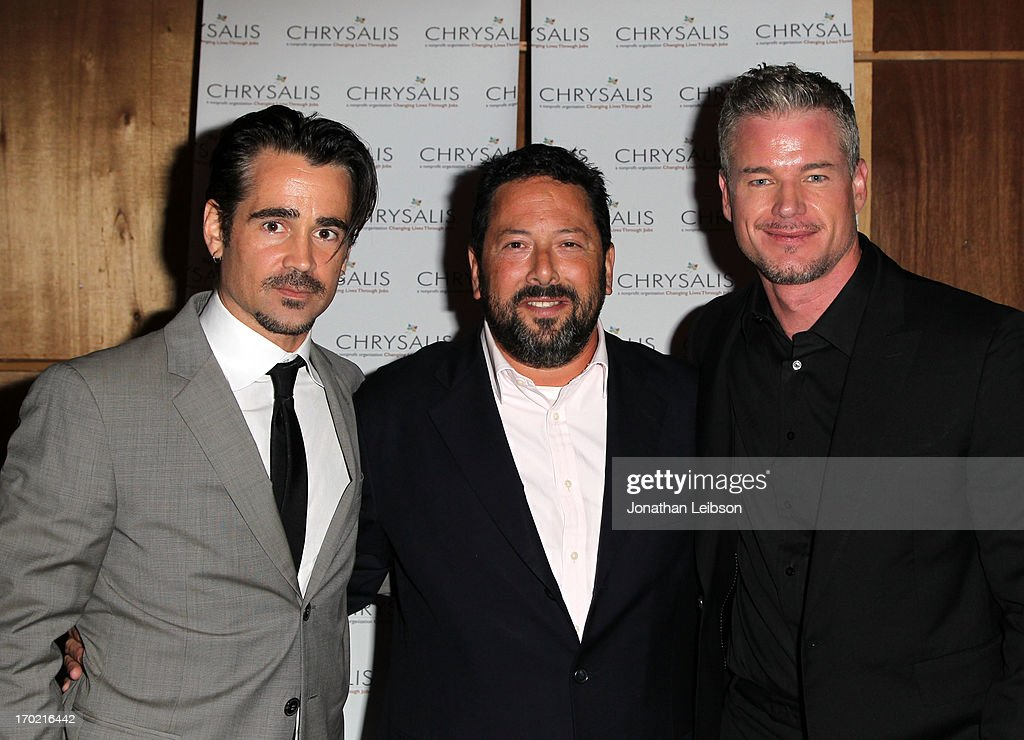 Actor Colin Farrell, honoree Josh Lieberman and actor Eric Dane attend the 12th Annual Chrysalis Butterfly Ball on June 8, 2013 in Los Angeles, California.
