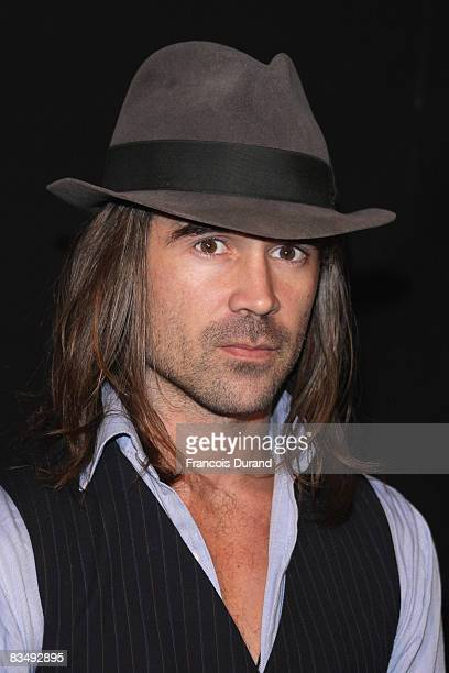 Actor Colin Farrell poses at a photocall for 'Pride and Glory' at the hotel Costes on October 30 2008 in Paris France