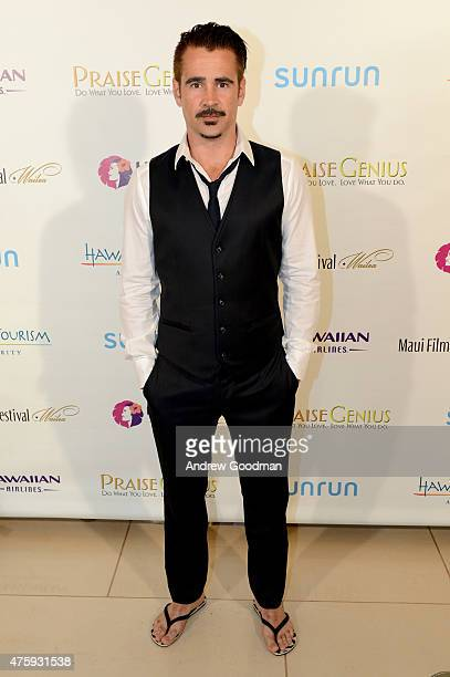 Actor Colin Farrell recipient of the 2015 Maui Film Festival Navigator Award attends day two of the 2015 Maui Film Festival at Four Seasons Maui on...