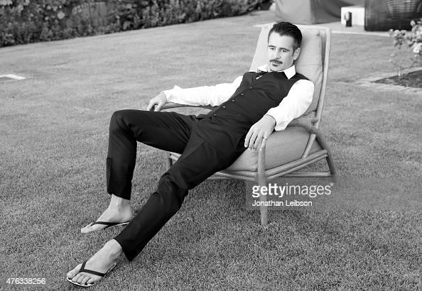 Actor Colin Farrell recipient of the 2015 Maui Film Festival Navigator Award poses for a portrait during day two of the 2015 Maui Film Festival at...