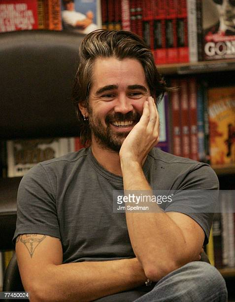 Actor Colin Farrell signs copies of 'Click' at Borders Columbus Circle on October 22 2007 in New York City
