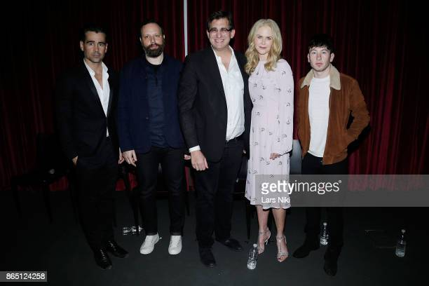Actor Colin Farrell writer director and producer Yorgos Lanthimos moderator Josh Rothkopf actress Nicole Kidman and actor Barry Keoghan attend The...