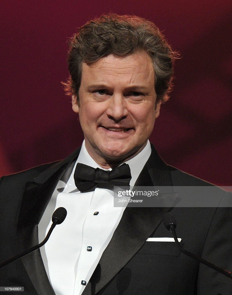 Actor <a gi-track='captionPersonalityLinkClicked' href=/galleries/search?phrase=Colin+Firth&family=editorial&specificpeople=201620 ng-click='$event.stopPropagation()'>Colin Firth</a> accpets the Desert Palm Achievement Actor Award onstage during the 22nd Annual Palm Springs International Film Festival Awards Gala at the Palm Springs Convention Center on January 8, 2011 in Palm Springs, California.