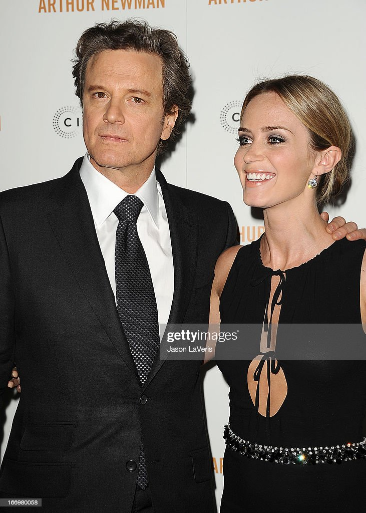 Actor <a gi-track='captionPersonalityLinkClicked' href=/galleries/search?phrase=Colin+Firth&family=editorial&specificpeople=201620 ng-click='$event.stopPropagation()'>Colin Firth</a> and actress <a gi-track='captionPersonalityLinkClicked' href=/galleries/search?phrase=Emily+Blunt&family=editorial&specificpeople=213480 ng-click='$event.stopPropagation()'>Emily Blunt</a> attend the premiere of 'Arthur Newman' at ArcLight Hollywood on April 18, 2013 in Hollywood, California.