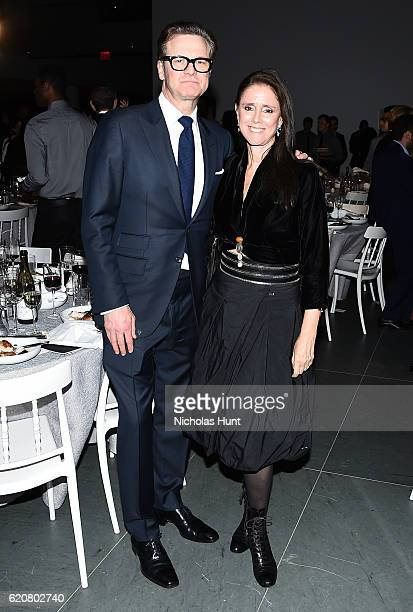 Actor Colin Firth and director Julie Taymor attend the WSJ Magazine 2016 Innovator Awards at Museum of Modern Art on November 2 2016 in New York City