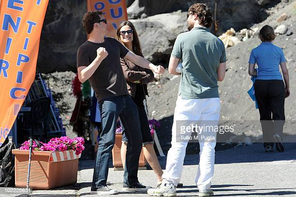 Actor Colin Firth and his wife Livia Giuggioli sightings At Mount Etna on June 19 2010 in Catania Italy