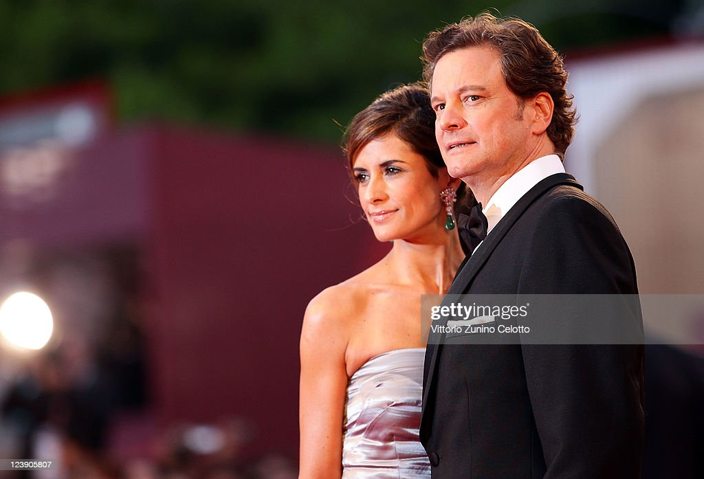 Actor Colin Firth and Livia Giuggioli attend the 'Tinker Tailor Soldier Spy' premiere at the Palazzo del Cinema during the 68th Venice Film Festival...