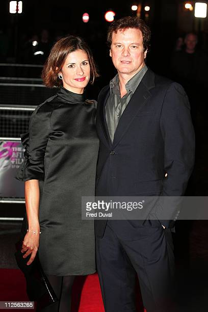 Actor Colin Firth and wife Livia Firth arrive at the screening of 'In Prison My Whole Life' on October 26 2007 in London England