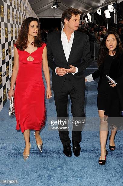 Actor Colin Firth and wife Livia Giuggioli arrive at the 25th Film Independent's Spirit Awards held at Nokia Event Deck at LA Live on March 5 2010 in...