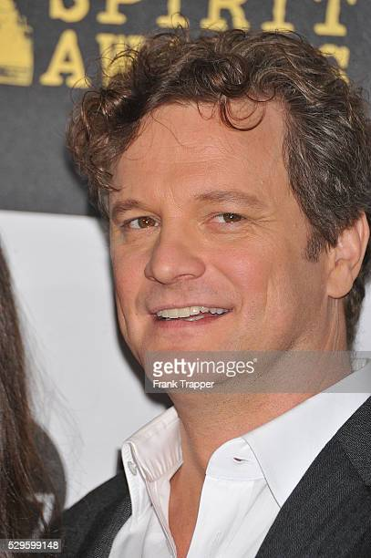 Actor Colin Firth arrives at the 25th Film Independent Spirit Awards held at Nokia Event Deck at LA Live