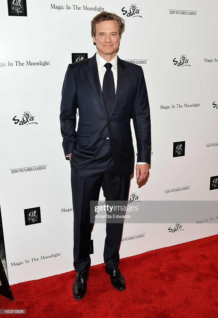 Actor <a gi-track='captionPersonalityLinkClicked' href=/galleries/search?phrase=Colin+Firth&family=editorial&specificpeople=201620 ng-click='$event.stopPropagation()'>Colin Firth</a> arrives at the special Los Angeles screening of 'Magic In The Moonlight' at the Linwood Dunn Theater at the Pickford Center for Motion Study on July 21, 2014 in Hollywood, California.