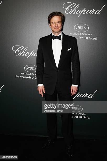 Actor Colin Firth arrives to the Chopard Backstage Dinner Afterparty at the CannesMandelieu Aerodrome during the 67th Annual Cannes Film Festival on...