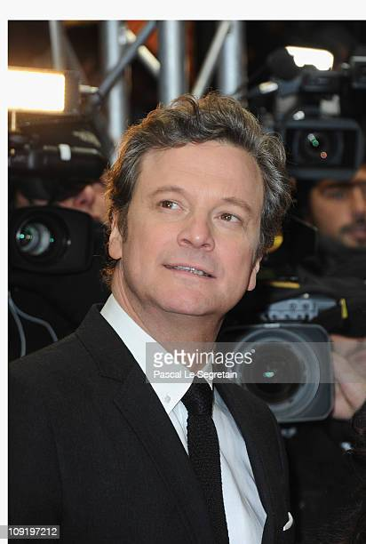 Actor Colin Firth attenda the 'The King's Speech' Premiere during day seven of the 61st Berlin International Film Festival at Friedrichstadtpalast on...
