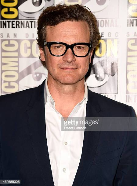 Actor Colin Firth attends 20th Century Fox Press Line during ComicCon International 2014 at Hilton Bayfront on July 25 2014 in San Diego California