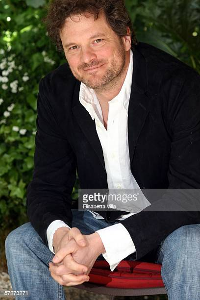 Actor Colin Firth attends a photocall to promote his latest movie 'False Verita' at the Hotel De Russie on April 7 2006 in Rome Italy