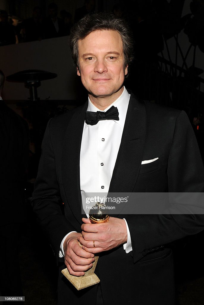 Actor <a gi-track='captionPersonalityLinkClicked' href=/galleries/search?phrase=Colin+Firth&family=editorial&specificpeople=201620 ng-click='$event.stopPropagation()'>Colin Firth</a> attends Relativity Media and The Weinstein Company's 2011 Golden Globe Awards After Party presented by Marie Claire held at The Beverly Hilton hotel on January 16, 2011 in Beverly Hills, California.